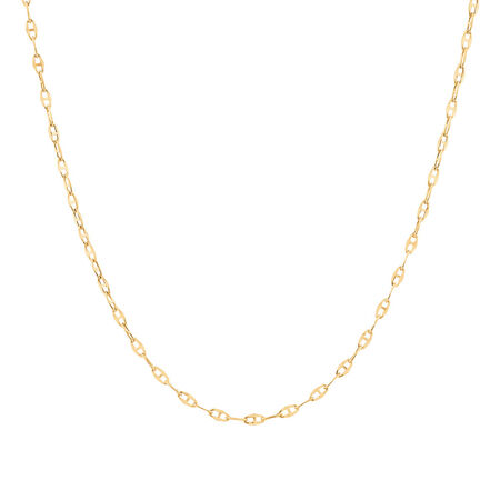 """40cm (16"""") Fancy Chain in 10ct Yellow Gold"""