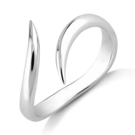 Sculpture Bypass Ring In Sterling Silver