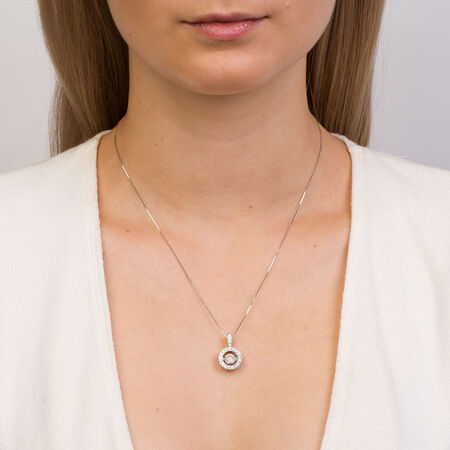 Everlight Pendant with 1 Carat TW of Diamonds in 14ct White Gold