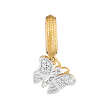 Diamond Set & 10ct Gold Butterfly Charm