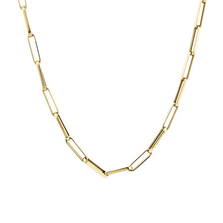 45cm Hollow Rectangular Link Chain in 10ct Yellow Gold