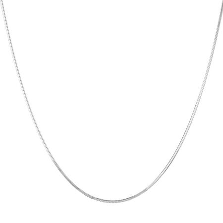 """45cm (18"""") Snake Chain in Sterling Silver"""
