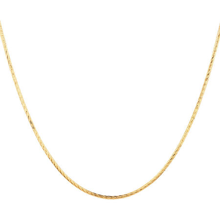 """45cm (18"""") Snake Chain in 10ct Yellow Gold"""