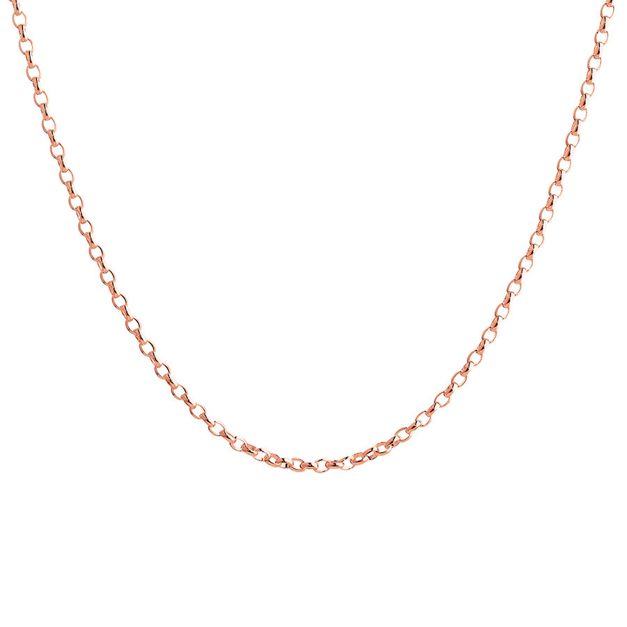 "50cm (20"") Belcher Chain in 10ct Rose Gold"