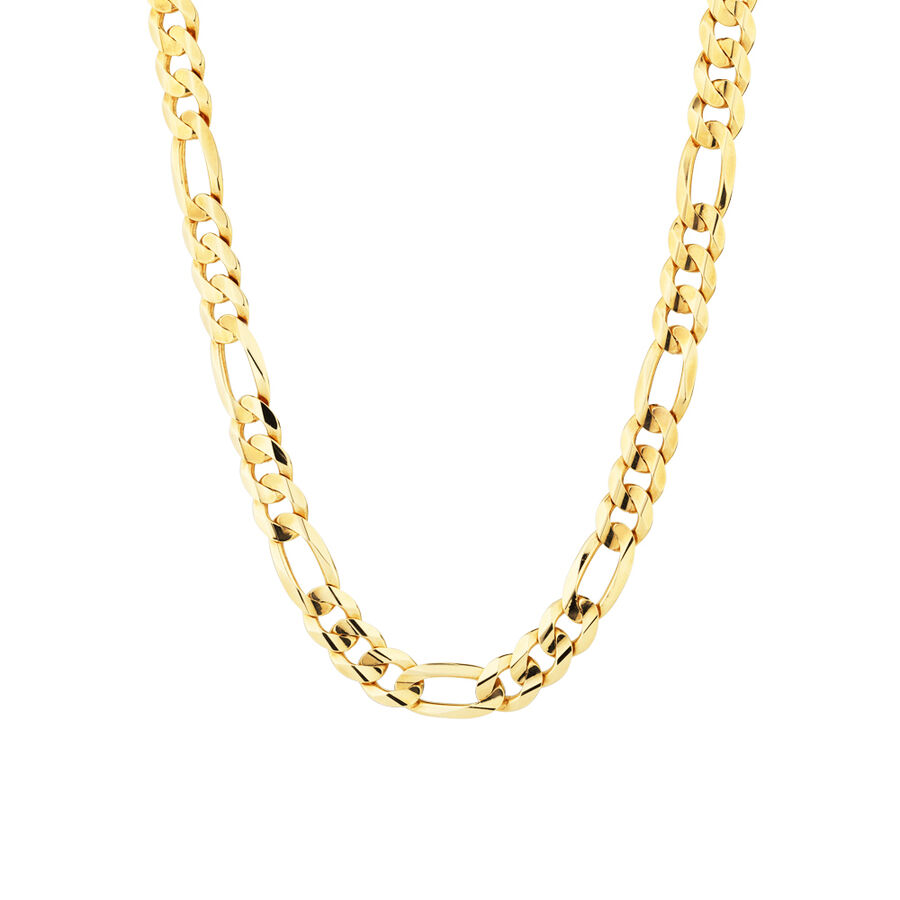 """60cm (24"""") Figaro Chain in 10ct Yellow Gold"""