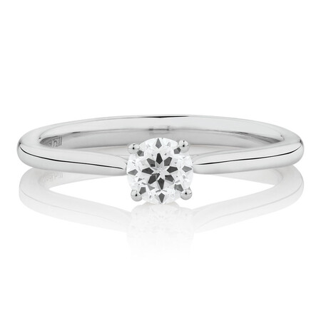 Southern Star Solitaire Engagement Ring with a 0.34 Carat TW Diamond in 14ct White Gold