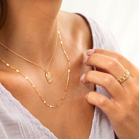 50cm Paperclip Chain in 10ct Yellow Gold