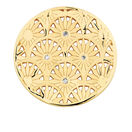 Diamond Set Art Deco Coin Locket Insert in 10ct Yellow Gold