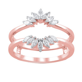 Enhancer Ring with 0.34 Carat TW of Diamonds in 10ct Rose Gold