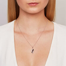 Pendant with Black & White Cubic Zirconias in Sterling Silver