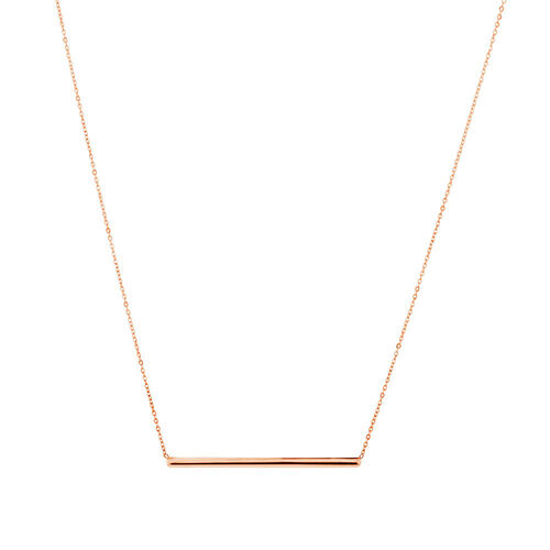 "45cm (18"") Bar Necklace in 10ct Rose Gold"