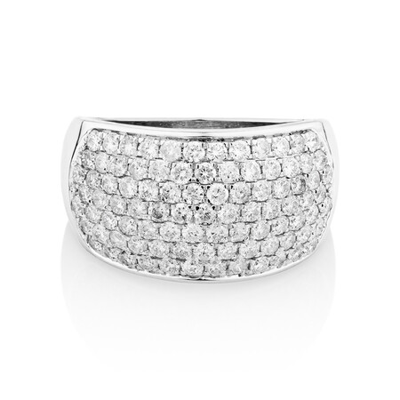 Ring with 1.5 Carat TW of Diamonds in 10ct White Gold