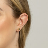 7mm Ball Stud Earrings in 10ct Yellow Gold