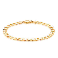 """21cm (8.5"""") Curb Bracelet in 10ct Yellow Gold"""