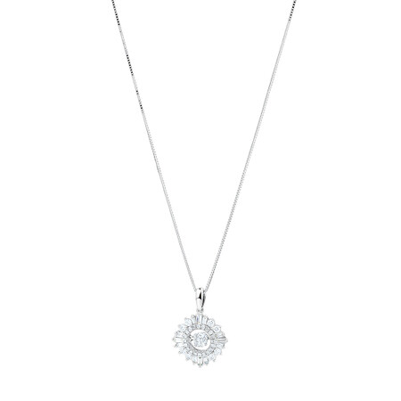 Everlight Pendant with 0.50 Carat TW Of Diamonds in 10ct White Gold