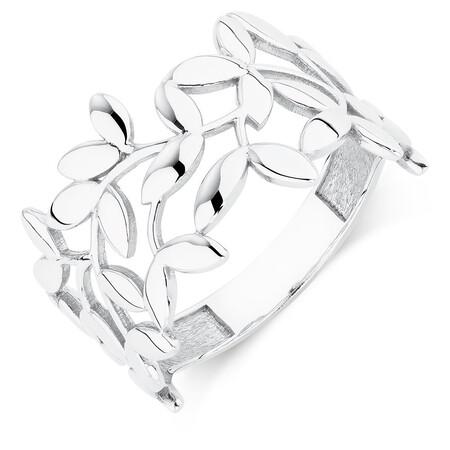 Olive Leaf Ring in Sterling Silver