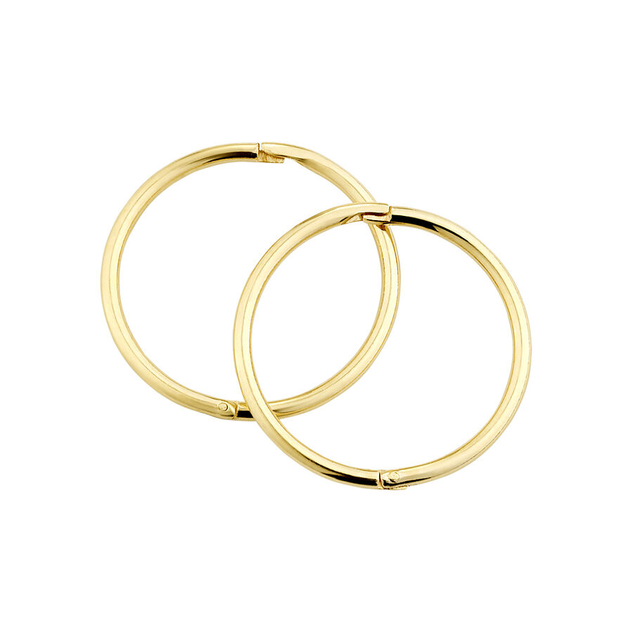 16mm Sleepers in 10ct Yellow Gold