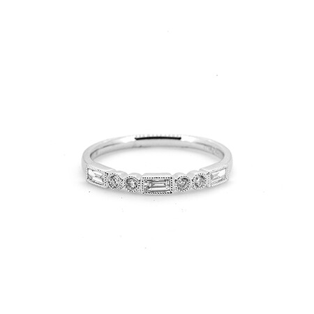 Ring with 0.26 Carat TW of Diamonds in 10ct White Gold