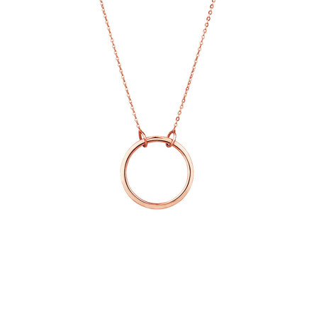 Circle Pendant in 10ct Rose Gold