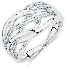 Ring with 1/3 Carat TW of Diamonds in 10ct White Gold