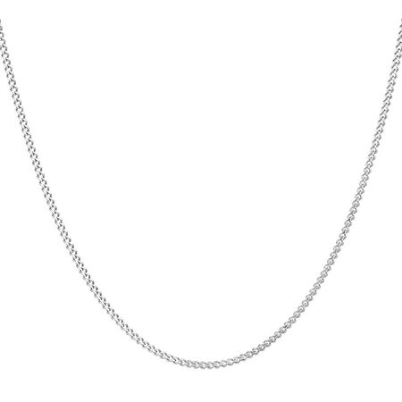 "45cm (18"") Curb Chain in 10ct White Gold"