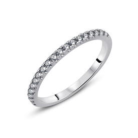 Ring with 0.28 Carat TW of Diamonds in 10ct White Gold