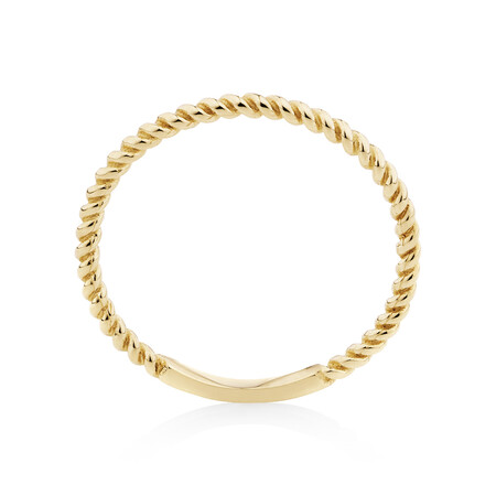 Twist Ring in 10ct Yellow Gold