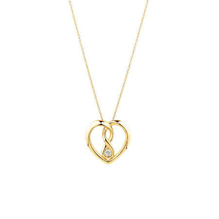 Small Infinitas Pendant with Diamonds in 10ct Yellow Gold