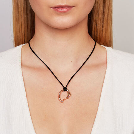Medium Spirits Bay Hollow Pendant in 10ct Rose Gold