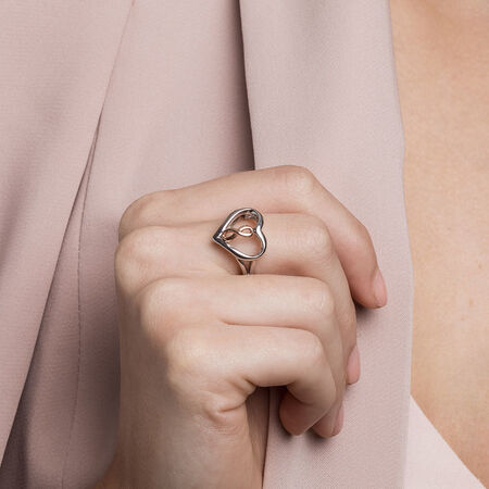 Infinitas Ring in 10ct Rose Gold & Sterling Silver