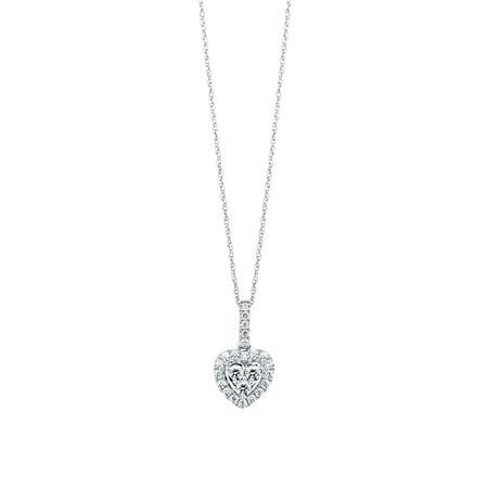 Michael Hill Designer Pendant with 0.40 Carat TW of Diamonds in 14ct White & Rose Gold
