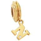 Diamond Set & 10ct Yellow Gold 'N' Charm