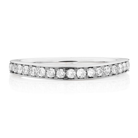 Sir Michael Hill Designer GrandAmoroso Wedding Band with 0.45 Carat TW of Diamonds in 14ct White Gold