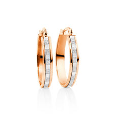 Glitter Hoops in 10ct Rose Gold