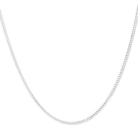"""60cm (24"""") Curb Chain in 925 Sterling Silver"""