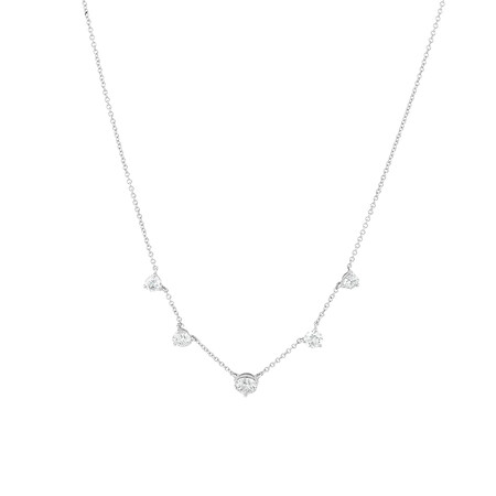 Laboratory-Created 1.75 Carat TW Diamond Necklace in 10ct White Gold