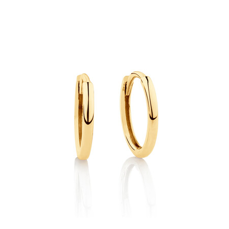 Mini Hoop Earrings in 10ct Yellow Gold