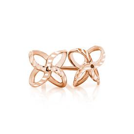 Petal Stud Earrings in 10ct Rose Gold