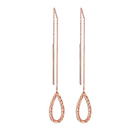 Geometric Teardrop Earrings in 10ct Rose Gold