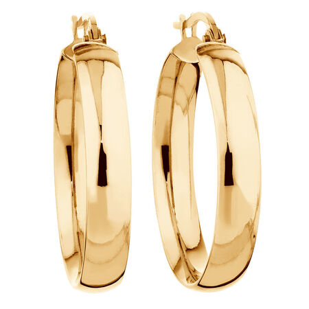 Hoop Earrings in 10ct Yellow Gold