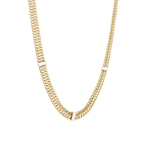 Fancy Italian Chain in 10ct Yellow & White Gold