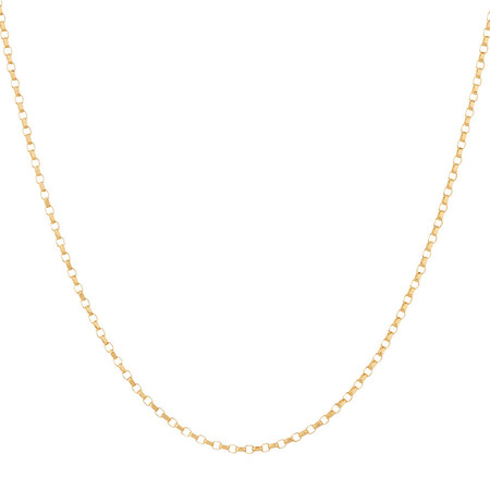 "45cm (18"") Solid Belcher Chain in 10ct Yellow Gold"