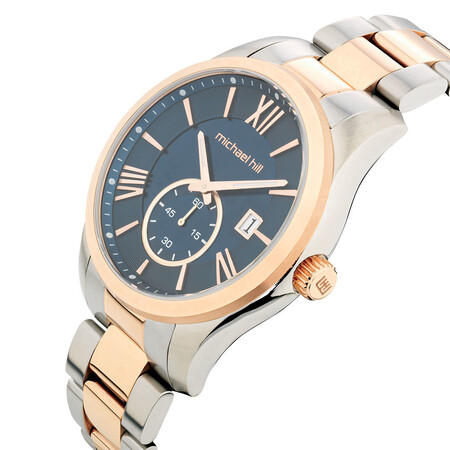 Men's Watch in Rose Tone & Silver Stainless Steel