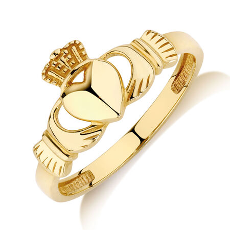 Claddagh Ring in 10ct Yellow Gold