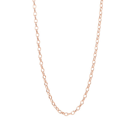 """60cm (24"""") Hollow Oval Belcher Chain in 10ct Rose Gold"""