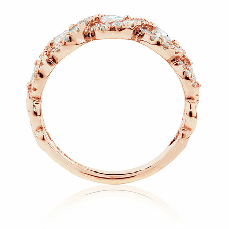 Ring with 1 Carat TW of Diamonds in 14ct Rose Gold