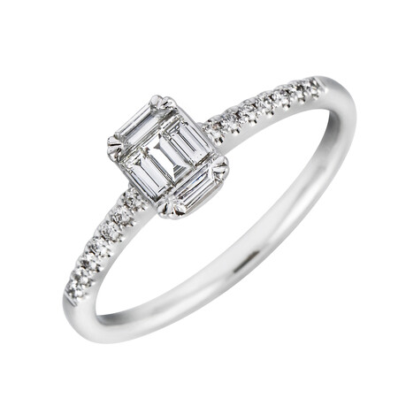 Ring with 0.31 Carat TW of Diamonds in 10ct White Gold