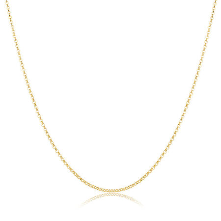 "60cm (24"") Hollow Belcher Chain in 10ct Yellow Gold"