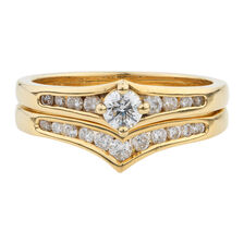 Online Exclusive - Bridal Set with 0.53 Carat TW of Diamonds in 18ct Yellow Gold