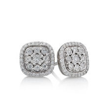 Stud Earrings with 0.31 Carat TW of Diamonds in 10ct White Gold
